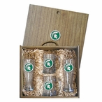 Michigan State University Spartans Green Pewter Accent Beer Box Set