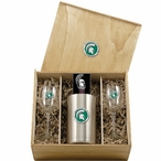 Michigan State University Spartans Green Pewter Accent Wine Box Set