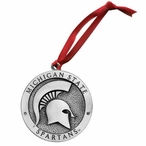 Michigan State University Spartans Pewter Accent Ornaments, Set of 2