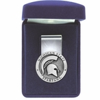 Michigan State University Spartans Pewter Accent Steel Money Clip