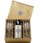 Michigan State University Spartans Pewter Accent Wine Box Set