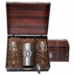 Michigan State University Spartans Pewter Accent Wine Chest Set