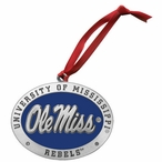 Mississippi Rebels Blue Pewter Accent Ornaments, Set of 2