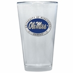 Mississippi Rebels Blue Pewter Accent Pint Beer Glasses, Set of 2