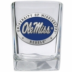Mississippi Rebels Blue Pewter Accent Shot Glasses, Set of 4