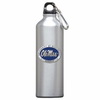 Mississippi Rebels Blue Pewter Accent Stainless Steel Water Bottle
