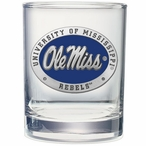 Mississippi Rebels Blue Pewter Double Old Fashion Glasses, Set of 2