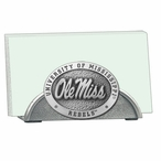 Mississippi Rebels Metal Business Card Holder with Pewter Accent