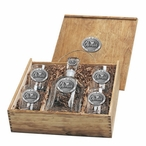 Mississippi Rebels Pewter Accent Capitol Decanter Box Set