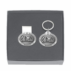 Mississippi Rebels Pewter Accent Money Clip & Key Chain Gift Set