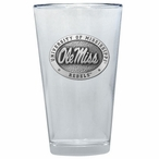 Mississippi Rebels Pewter Accent Pint Beer Glasses, Set of 2