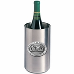 Mississippi Rebels Pewter Stainless Steel Wine Bottle Cooler Chiller