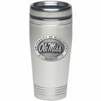 Mississippi Rebels Stainless Steel Travel Mug with Pewter Accent