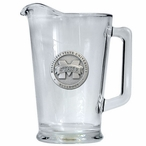 Mississippi State Bulldogs Logo Glass Pitcher with Pewter Accent
