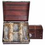 Mississippi State Bulldogs Logo Pewter Accent Beer Chest Box Set