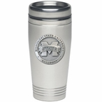 Mississippi State Bulldogs Logo Stainless Steel Travel Mug with Pewter