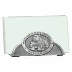 Mississippi State Bulldogs Metal Business Card Holder w/ Pewter Accent