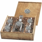 Mississippi State Bulldogs Pewter Accent Capitol Decanter Box Set