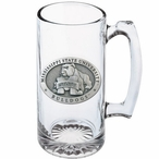 Mississippi State Bulldogs Pewter Accent Glass Super Beer Mug