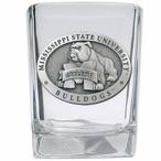 Mississippi State Bulldogs Pewter Accent Shot Glasses, Set of 4