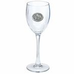Mississippi State Bulldogs Pewter Accent Wine Glass Goblets, Set of 2