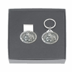 Mississippi State Bulldogs Pewter Money Clip & Key Chain Gift Set