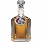 Mississippi State Bulldogs Red Capitol Glass Decanter with Pewter