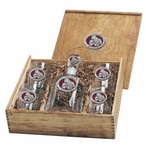 Mississippi State Bulldogs Red Pewter Accent Capitol Decanter Box Set