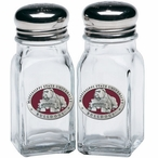 Mississippi State Bulldogs Red Pewter Accent Salt & Pepper Shakers