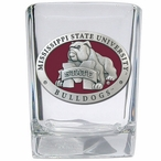 Mississippi State Bulldogs Red Pewter Accent Shot Glasses, Set of 4