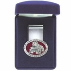 Mississippi State Bulldogs Red Pewter Accent Steel Money Clip