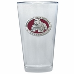 Mississippi State Bulldogs Red Pewter Pint Beer Glasses, Set of 2