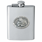 Mississippi State Bulldogs Stainless Steel Flask with Pewter Accent
