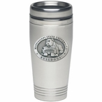 Mississippi State Bulldogs Stainless Steel Travel Mug w/ Pewter Accent