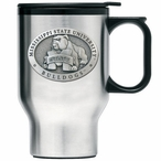 Mississippi State Bulldogs Travel Mug with Handle & Pewter Accent