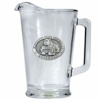 Mississippi State University Bulldogs Glass Pitcher with Pewter Accent