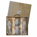Mississippi State University Bulldogs Logo Pewter Accent Beer Box Set