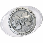 Mississippi State University Bulldogs Logo Pewter Accent Paperweight