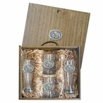Mississippi State University Bulldogs Pewter Accent Beer Box Set