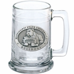 Mississippi State University Bulldogs Pewter Accent Glass Beer Mug