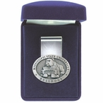 Mississippi State University Bulldogs Pewter Accent Steel Money Clip
