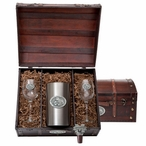 Mississippi State University Bulldogs Pewter Accent Wine Chest Set