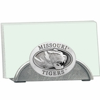 Missouri Tigers Metal Business Card Holder with Pewter Accent