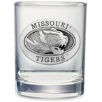 Missouri Tigers Pewter Accent Double Old Fashion Glasses, Set of 2