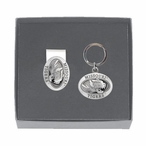 Missouri Tigers Pewter Accent Money Clip & Key Chain Gift Set