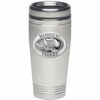 Missouri Tigers Stainless Steel Travel Mug with Pewter Accent