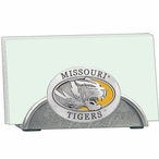 Missouri Tigers Yellow Metal Business Card Holder with Pewter Accent