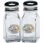 Missouri Tigers Yellow Pewter Accent Salt & Pepper Shakers