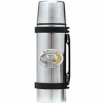 Missouri Tigers Yellow Pewter Accent Stainless Steel Thermos