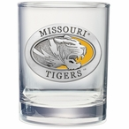Missouri Tigers Yellow Pewter Double Old Fashion Glasses, Set of 2